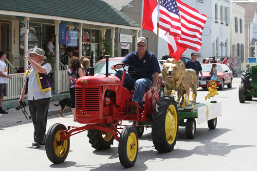 Tractor in parade at Schomberg Fair